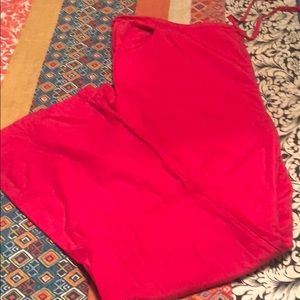 Dickies scrub pants red 2x tall